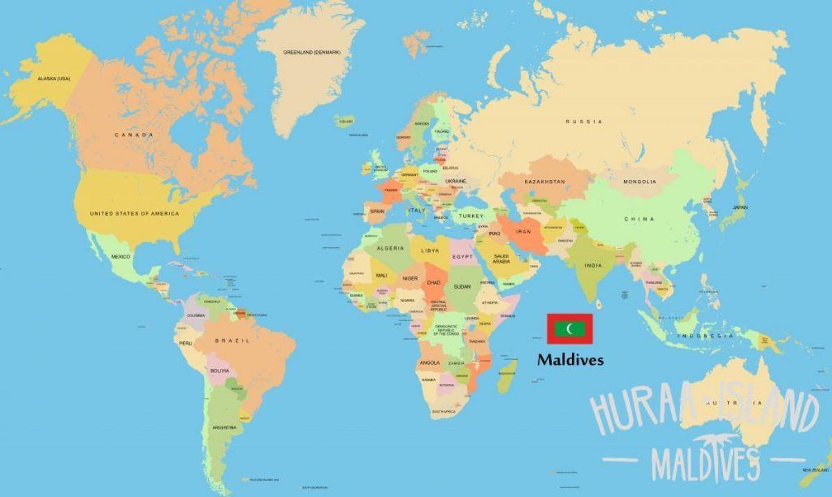 Malediven Karte Weltkarte.Malediven Lage In Weltkarte Karte Von Malediven In Der Weltkarte