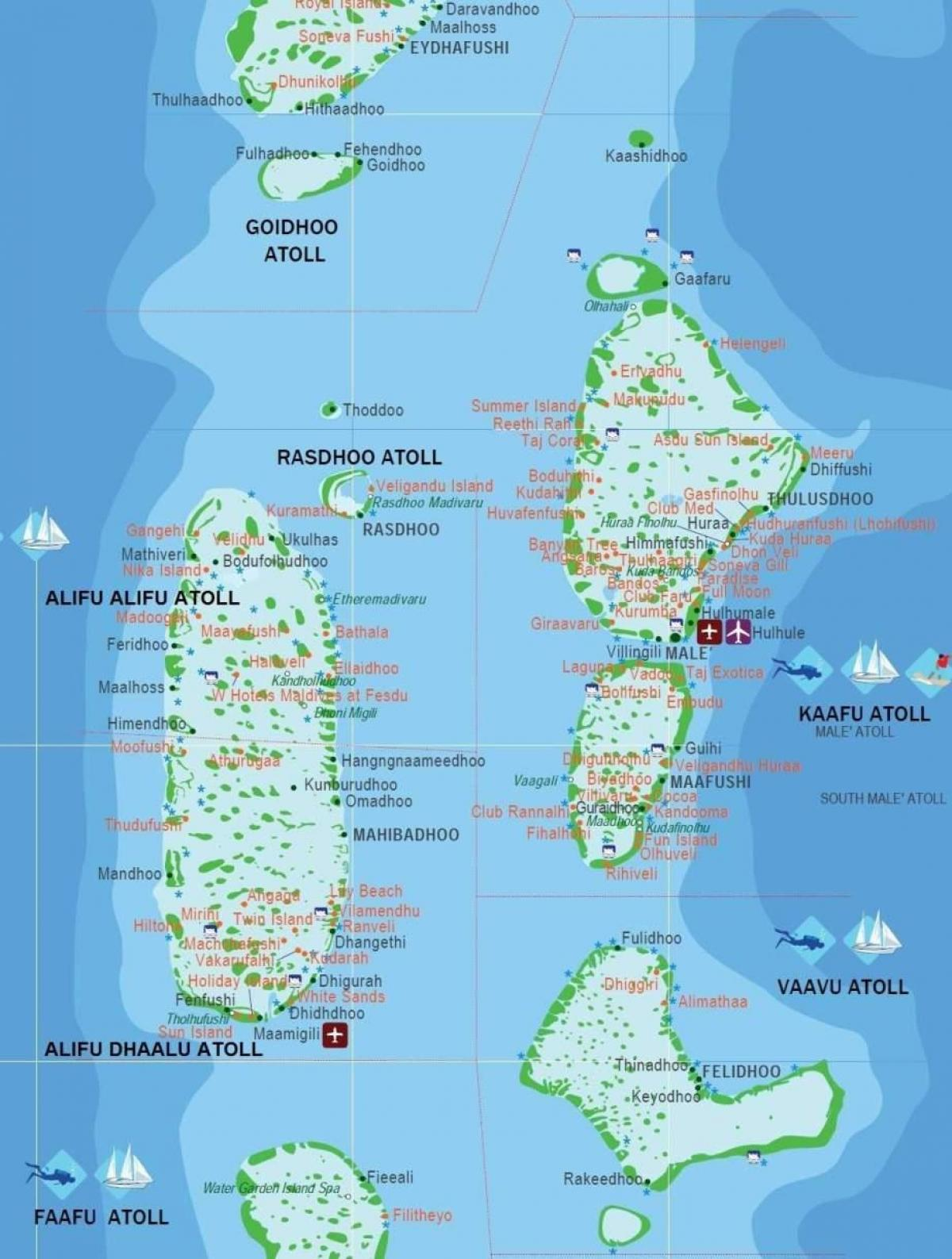 Map Of Maldives Country Welt Atlas De