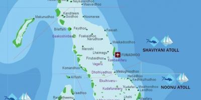 Malediven Map Karten Malediven Sud Asien Asia